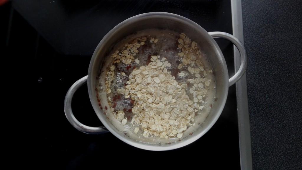 Haferflocken mit Leinsamen vermischt